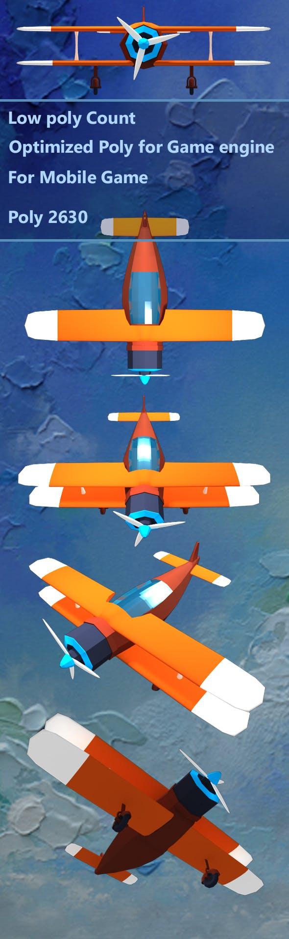 low poli plane - 3DOcean Item for Sale