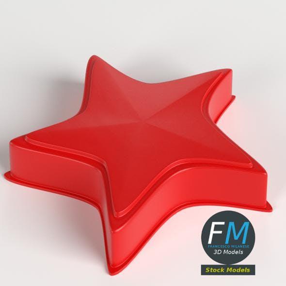 Plastic star beach toy - 3DOcean Item for Sale
