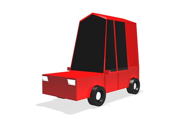 Low Poly City Car 3d Model V2 - 3DOcean Item for Sale