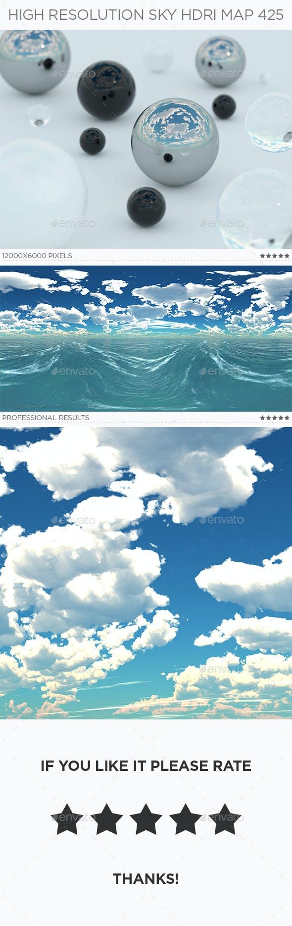 High Resolution Sky HDRi Map 425 - 3DOcean Item for Sale