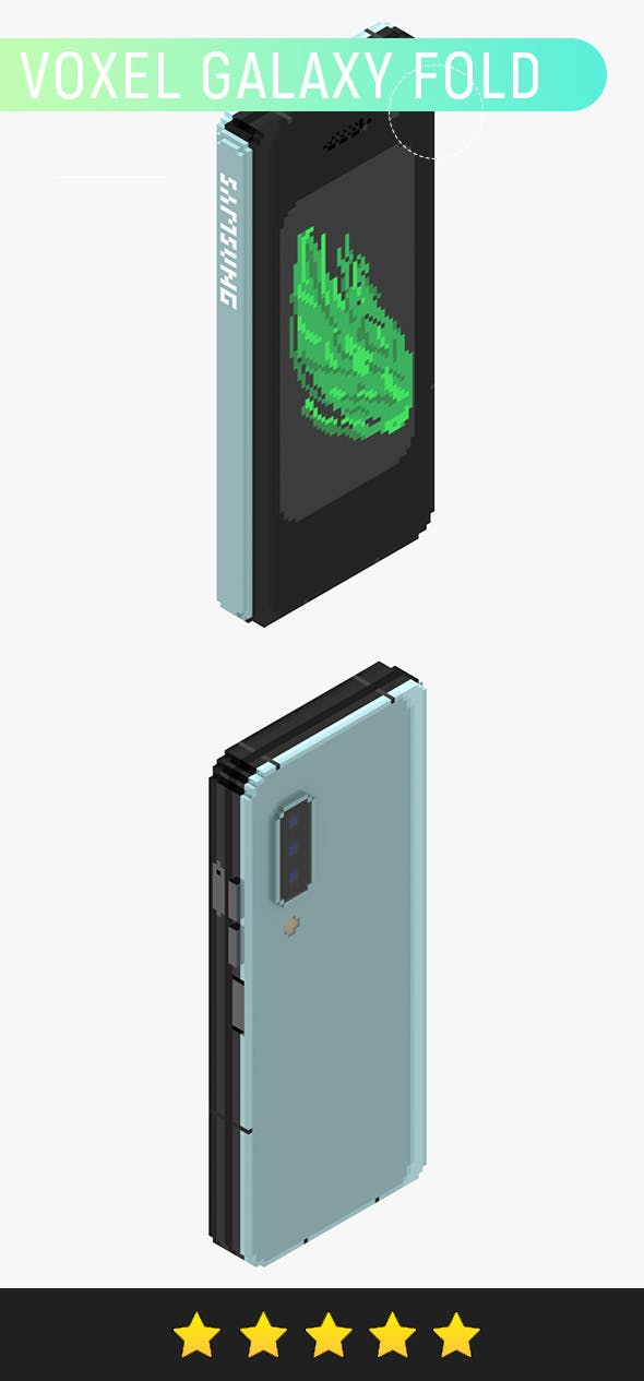 Voxel Galaxy Fold v2 - 3DOcean Item for Sale