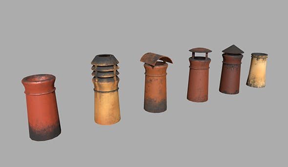 London Chimney Pipes - 3DOcean Item for Sale