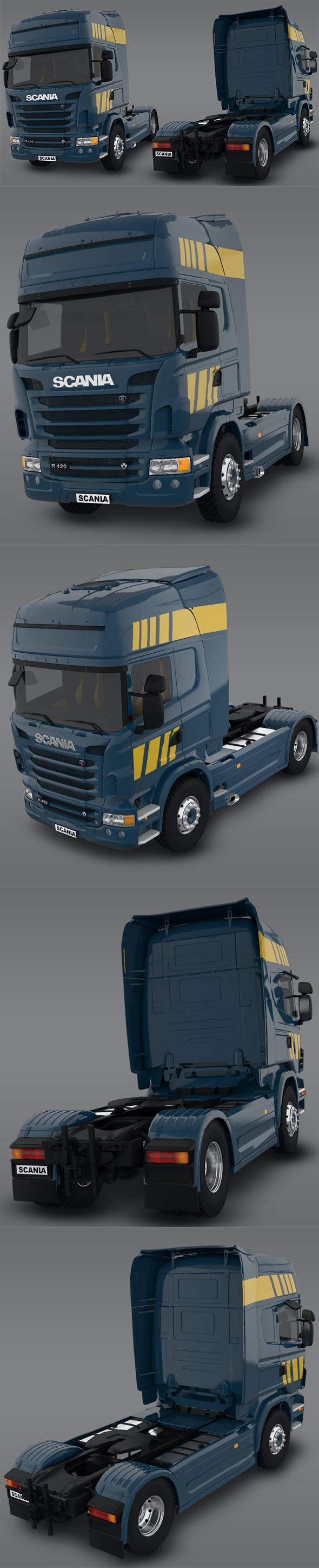 Scania R480 2008 3D Model - 3DOcean Item for Sale
