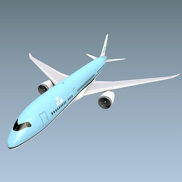 Lowpoly Boeing 787-9 airliner
