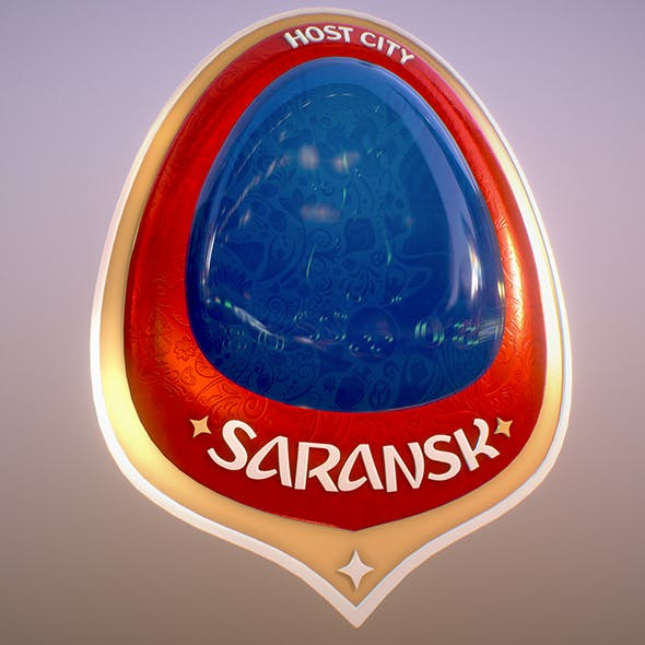 Saransk City World Cup Russia 2018 Symbol