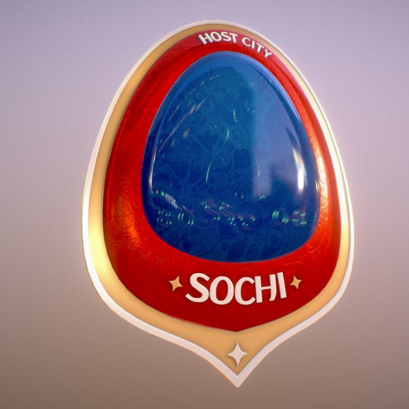 Sochi City World Cup Russia 2018 Symbol - 3DOcean Item for Sale