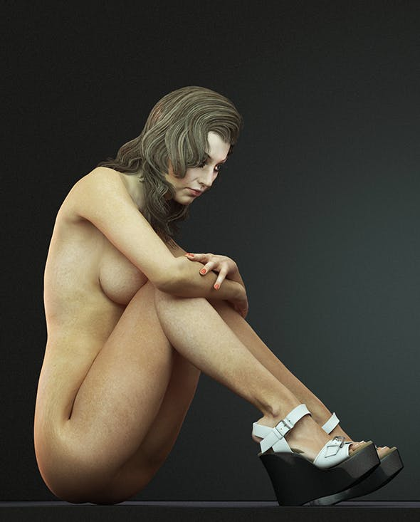 Female nude rigged 3d model by SkifX | 3DOcean