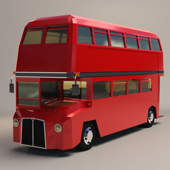Low Poly London Bus - 3DOcean Item for Sale