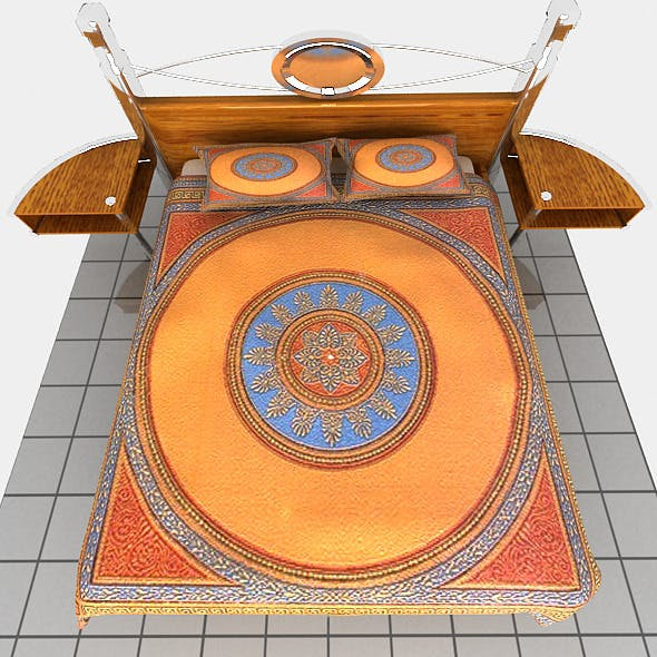 New bed - 3DOcean Item for Sale