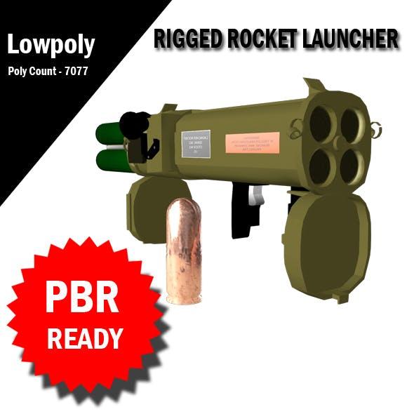 3D Rocket Launcher RIgged VR / AR / low-poly 3d model