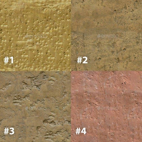 Set of 14 Seamless Bare Metal Textures