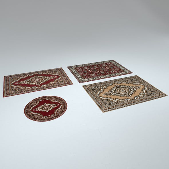 4 Persian Rugs - 3DOcean Item for Sale