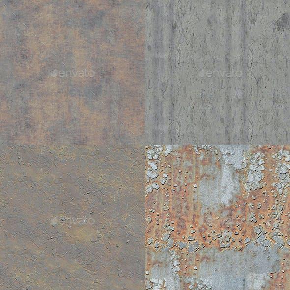 Set of 30 Various Bare Metal Textures