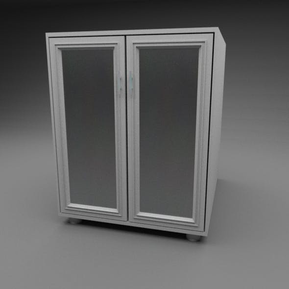 Bathroom Cabinet Low-Poly - 3DOcean Item for Sale