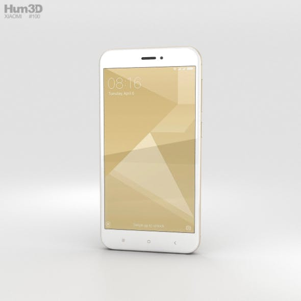 Xiaomi Redmi 4X Gold - 3DOcean Item for Sale