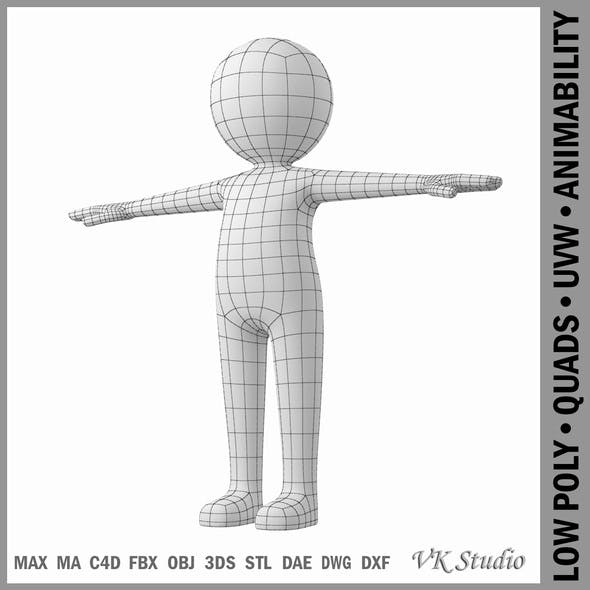 Stylized Stickman in T-Pose - 3DOcean Item for Sale