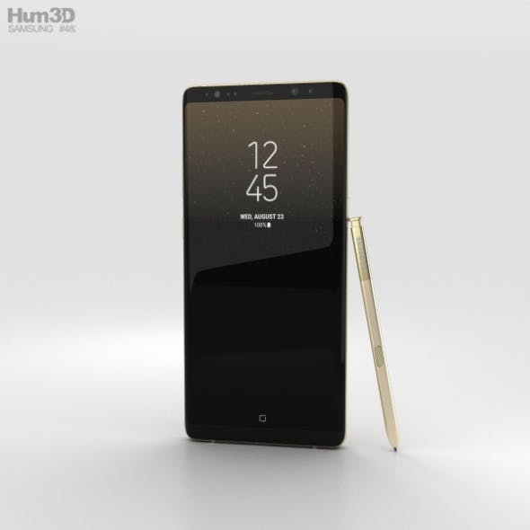 Samsung Galaxy Note 8 Maple Gold - 3DOcean Item for Sale