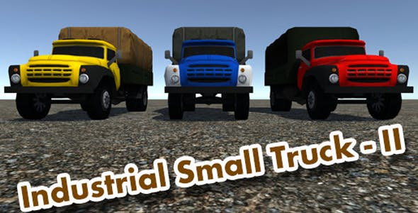 Industrial Small Truck Pack - II - 3DOcean Item for Sale
