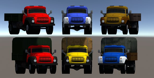 Industrial Small Truck Pack - III - 3DOcean Item for Sale