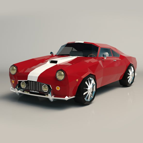 Low Poly Muscle Car 01 - 3DOcean Item for Sale