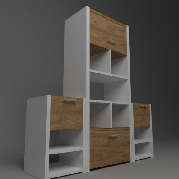 Kitchen Cabinet Low-Poly - 3DOcean Item for Sale