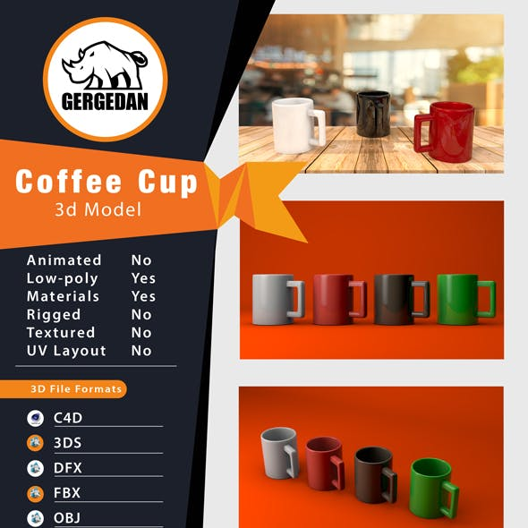Coffee Cup CG Textures & 3D Models from 3DOcean
