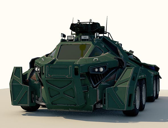 Sci-Fi Military Car - 3DOcean Item for Sale