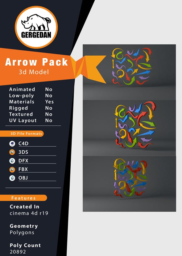 Arrow Pack - 3DOcean Item for Sale