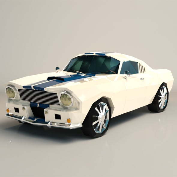 Low Poly Muscle Car 02 - 3DOcean Item for Sale