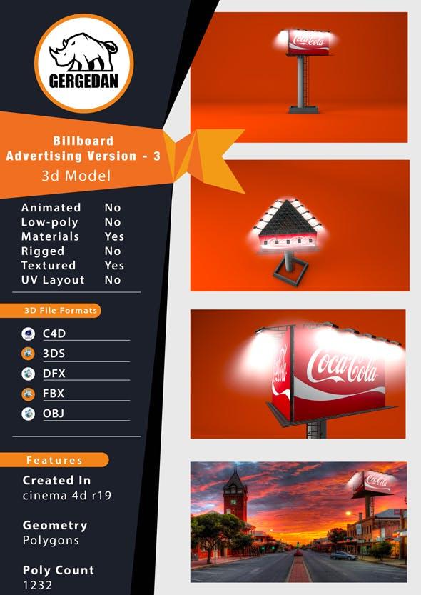 Billboard Advertising Version-3 - 3DOcean Item for Sale