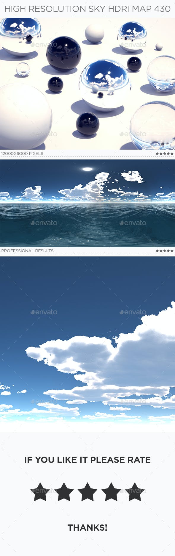 High Resolution Sky HDRi Map 430 - 3DOcean Item for Sale