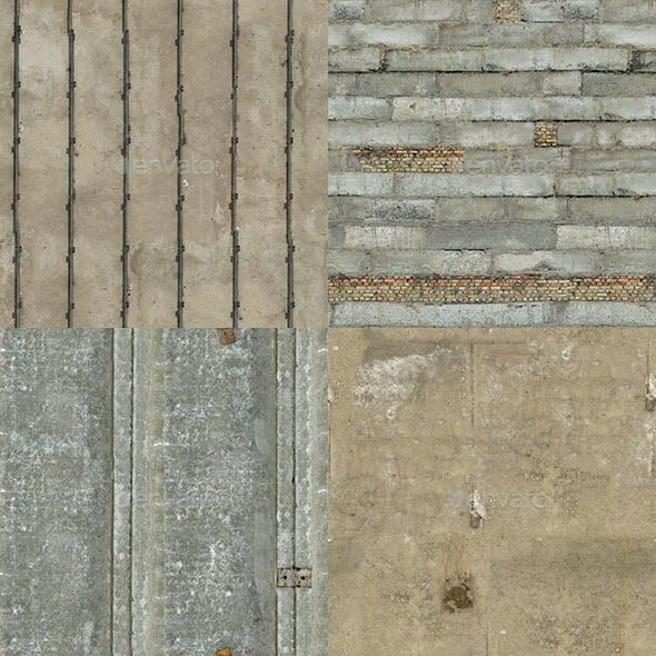 Set of 14 Seamless Various Concrete Textures