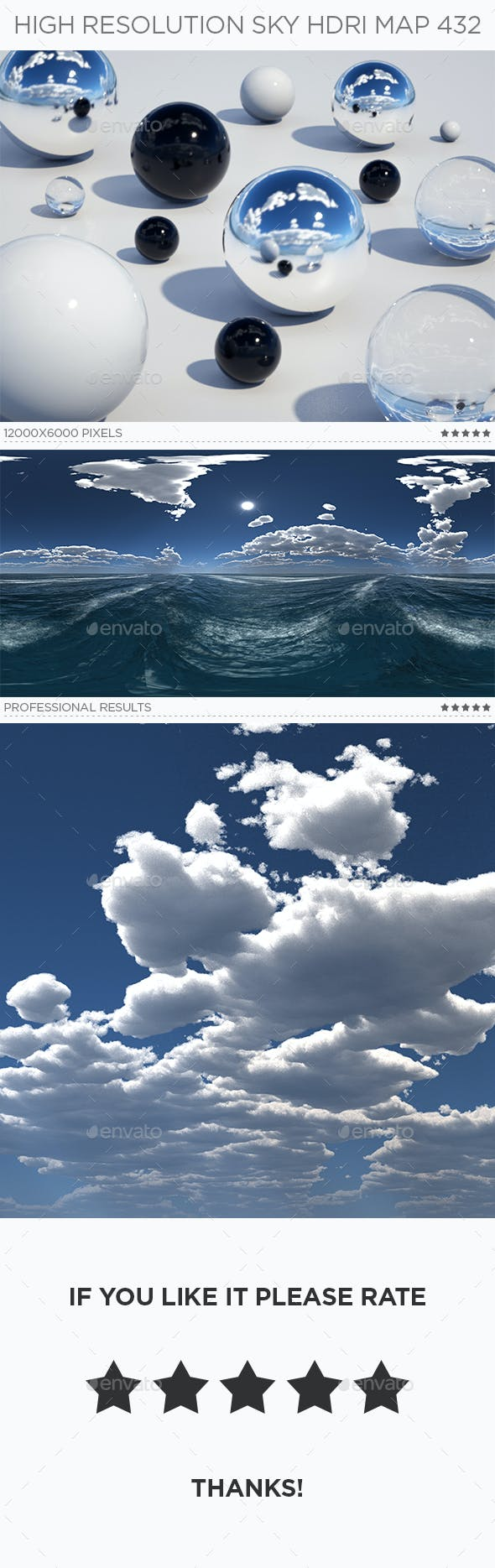 High Resolution Sky HDRi Map 432 - 3DOcean Item for Sale