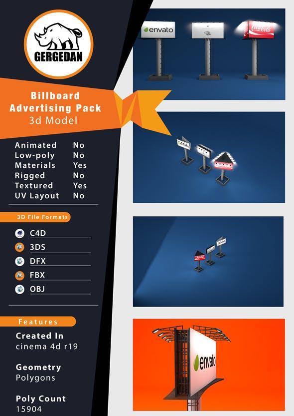 Billboard Advertising Pack - 3DOcean Item for Sale