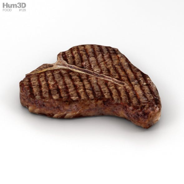 T-Bone Steak Cooked - 3DOcean Item for Sale