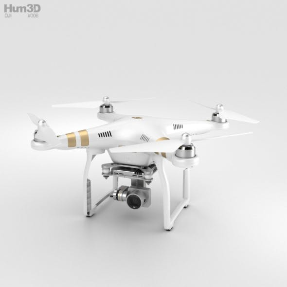 DJI Phantom 3 Professional - 3DOcean Item for Sale
