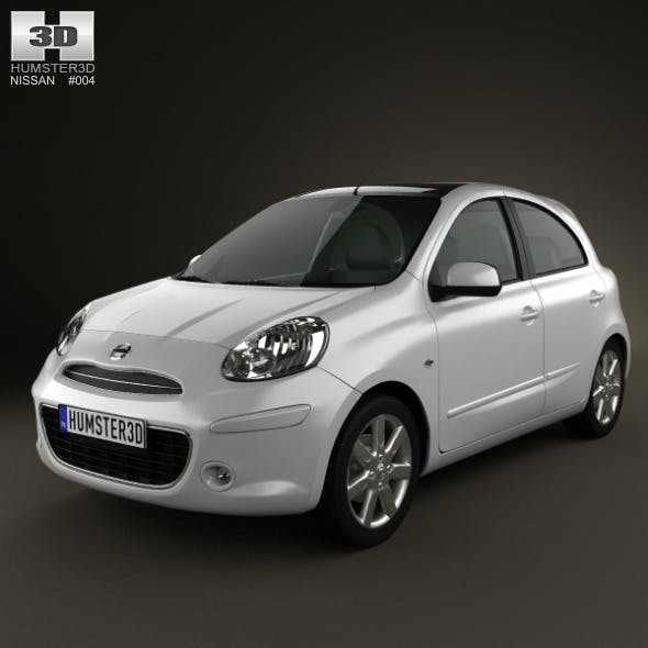 Nissan Micra 2011 - 3DOcean Item for Sale