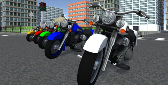 Low Poly Hot Road Bikes - 3DOcean Item for Sale