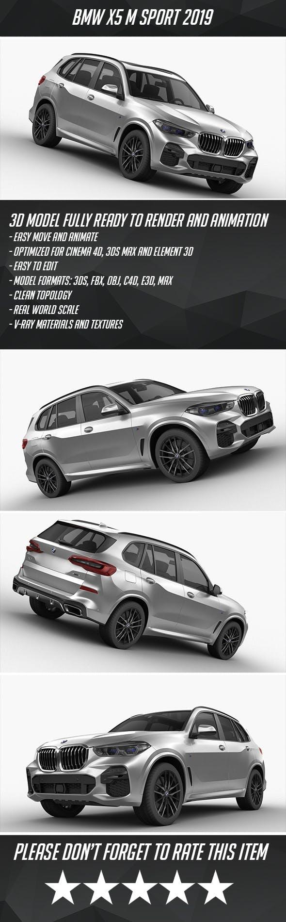 BMW X5 M 2019 - 3DOcean Item for Sale