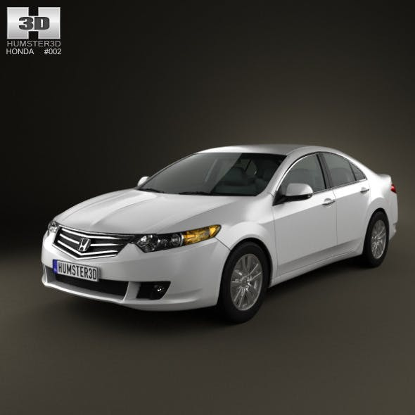 Honda Accord sedan - 3DOcean Item for Sale