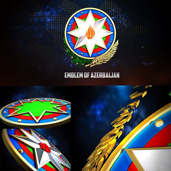 3D EMBLEM OF AZERBAIJAN - 3DOcean Item for Sale