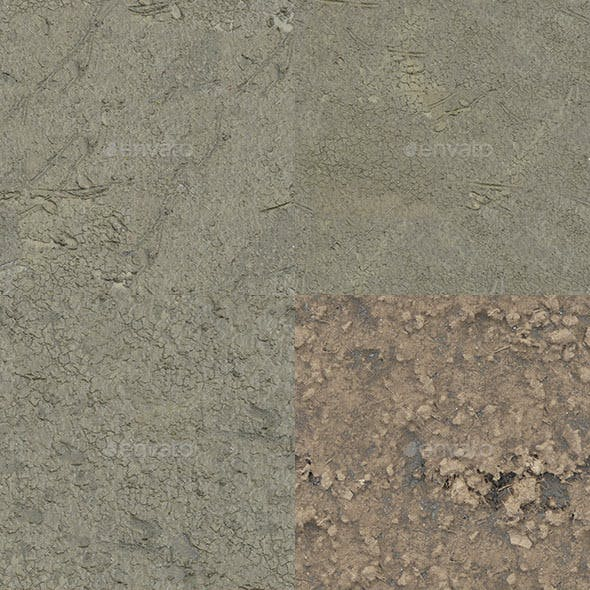 Set of 26 Seamless Mud Ground Textures Volume 1