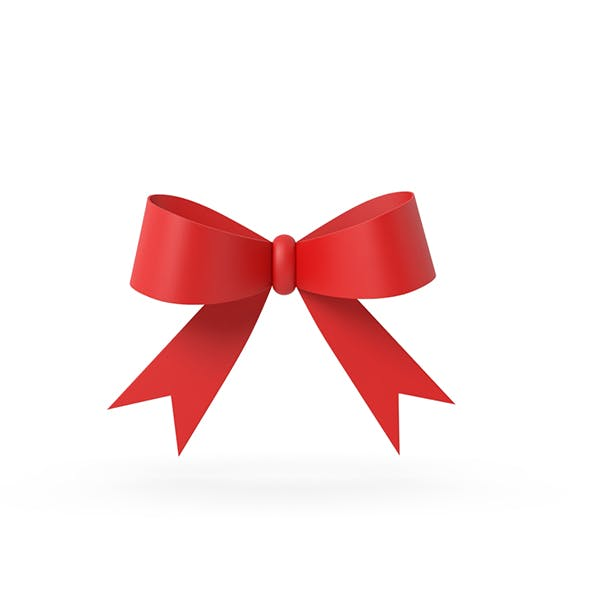 Gift ribbon red simple cartoon - 3DOcean Item for Sale