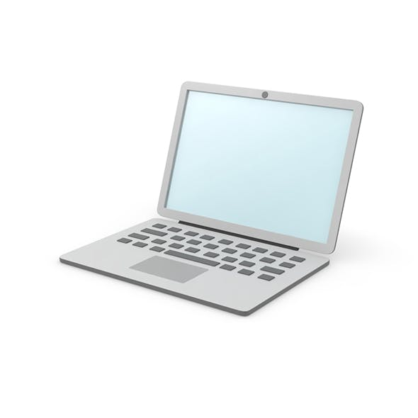 Laptop simple cartoon clean - 3DOcean Item for Sale