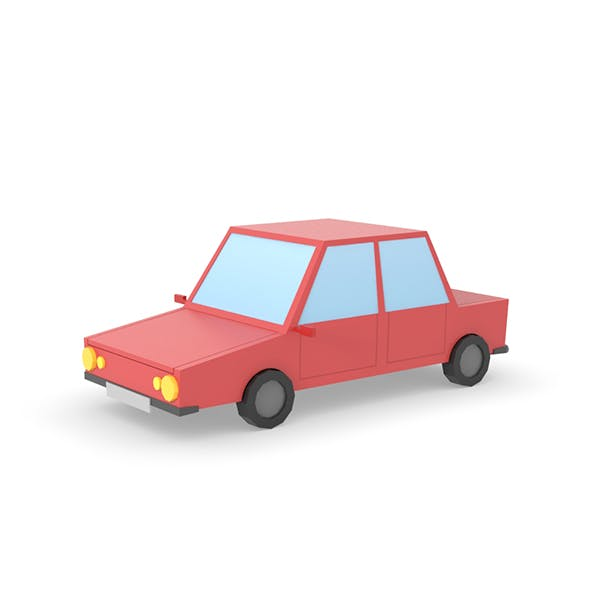 Car Low Poly simple cartoon
