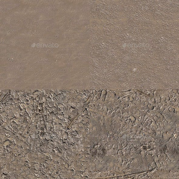 Set of 27 Seamless Mud Ground Textures Volume 2