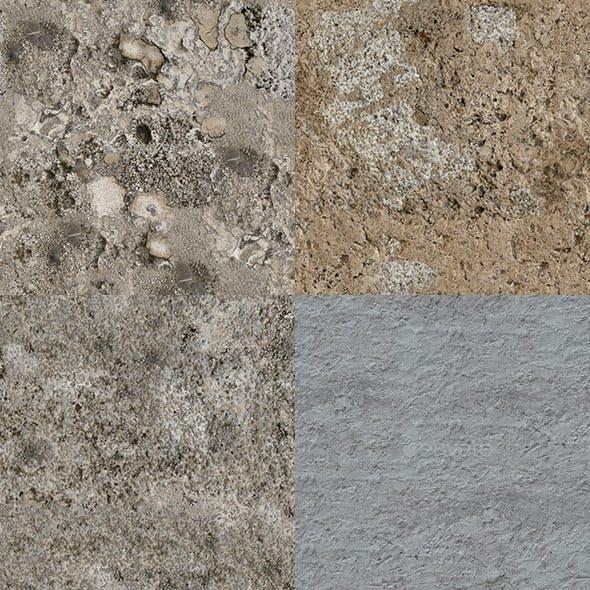 Set of 23 Seamless Rough Concrete Textures Volume 1