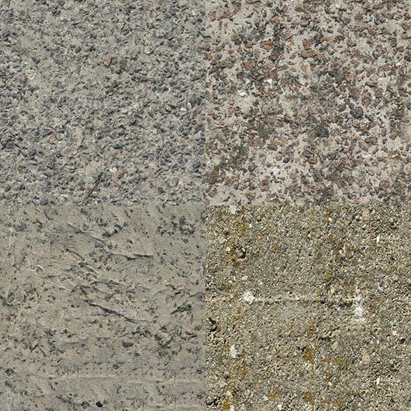 Set of 23 Seamless Rough Concrete Textures Volume 2