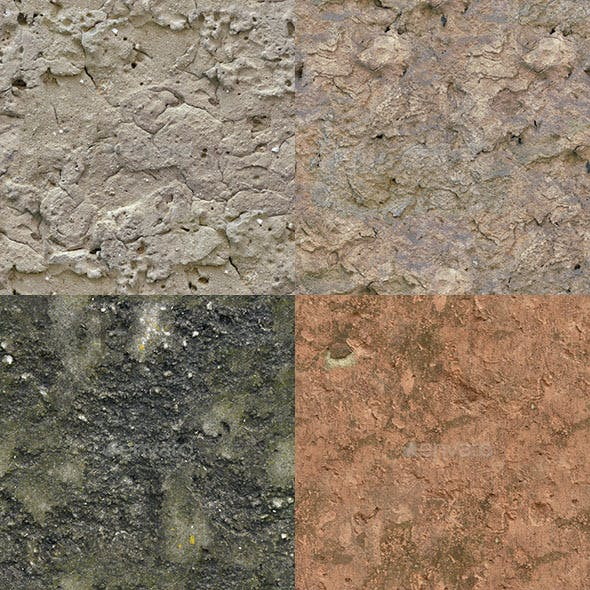 Set of 23 Seamless Rough Concrete Textures Volume 3