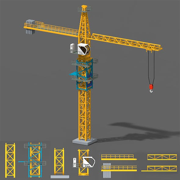 Voxel Tower Crane